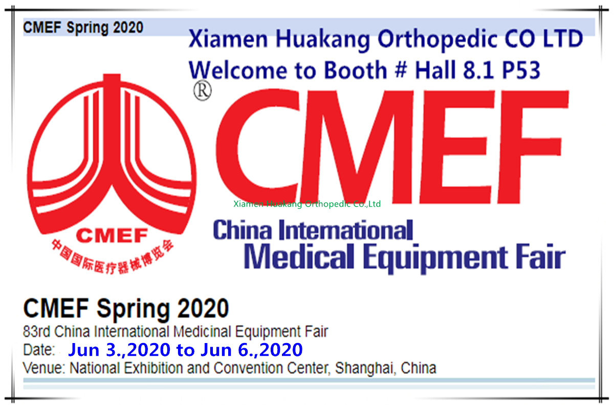CMEF medical products orthopedic braces devices