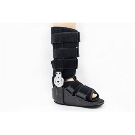 Tall or short ROM walking boot braces